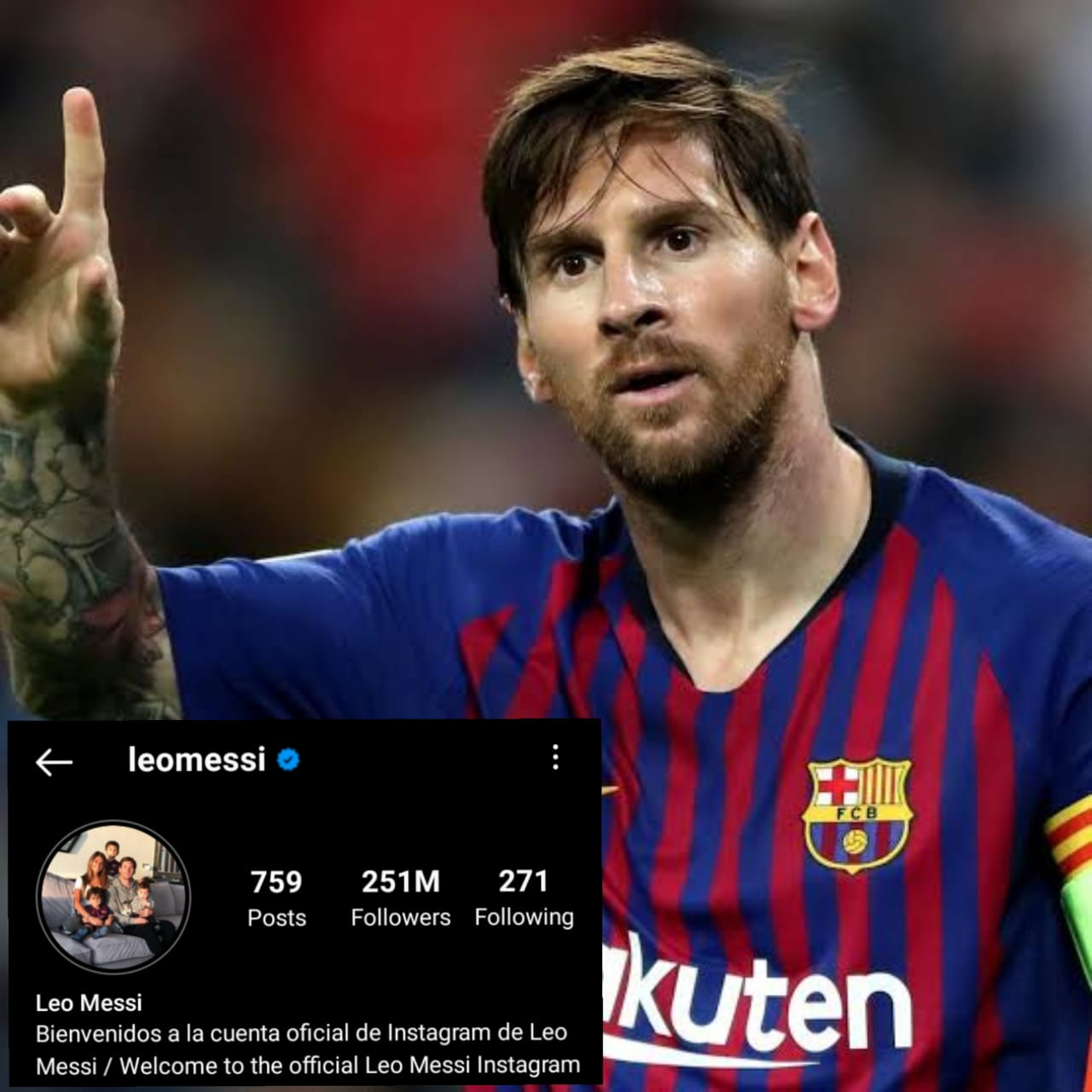 Messi Instagram Followers